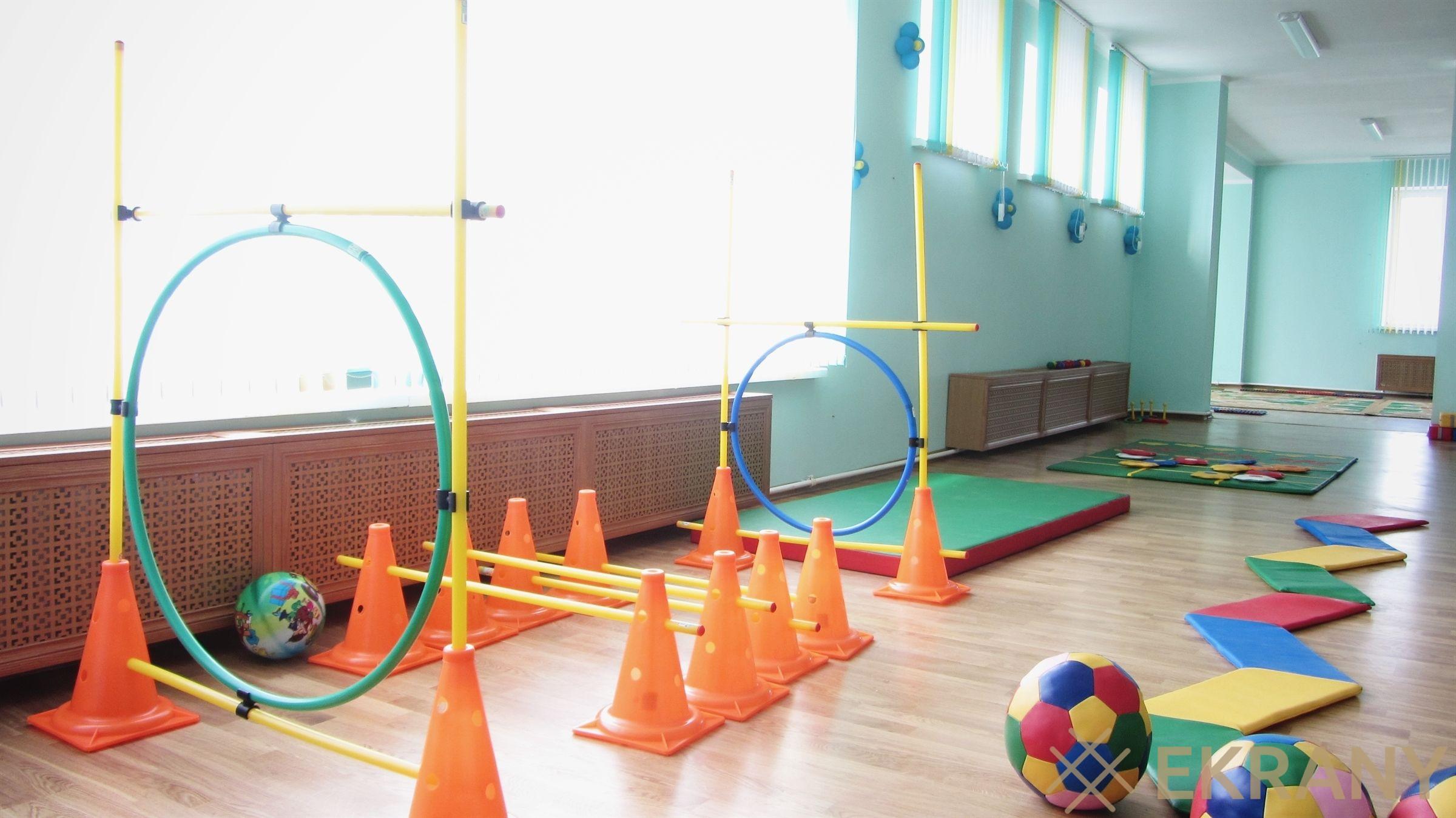гимнастический зал, детский сад г. Лида